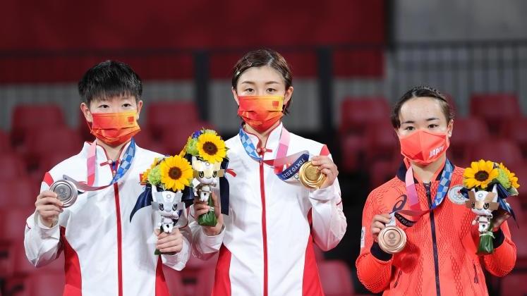 第15金!陈梦获得东京奥运会乒乓球女单金牌 河北运动员孙颖莎获得银牌