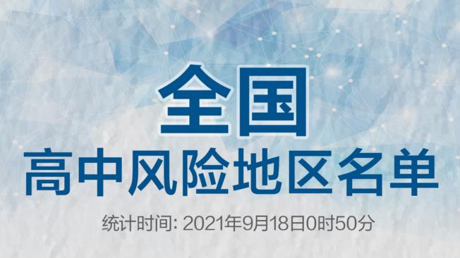 漳州1地升级!全国现有4+18个高中风险区,一图速览