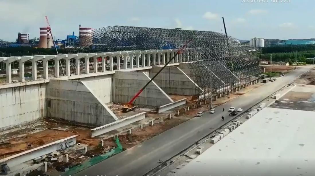 """新华社聚焦唐山丨""""公转铁""""项目建设构建绿色运输通路"""